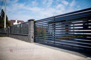 Ogrodzenie murowane ogrodzenia metalowe spawane na wymiar żaluzja pod kątem pustak łupany łupanka Radom Warka