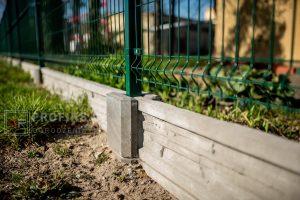 Ogrodzenie panelowe ogrodzenia systemowe Podmurówka betonowa łącznik wibroprasa producka ogrodzeń producent radom Warka Zwoleń