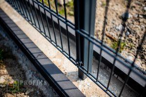 Panel ogrodzeniowy prosty 2D Ogrodzenie panelowe ogrodzenia systemowe słupek antracyt fundament obrzeże Radom Zwoleń Jedlińsk