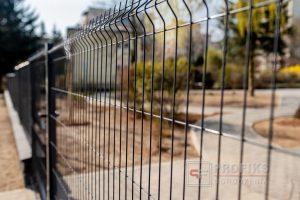 Panel Ogrodzeniowy 123 cm HR4 RAL9005 czarny podmurówka systemowa Ogrodzenie Panelowe Radom Panele przetłaczane ogrodzeniowe 3D ogrodzenia systemowe producent łącznik Lipsko Zwoleń