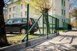 Panel Ogrodzeniowy 153 cm HR4 RAL6005 zielony podmurówka systemowa brama przesuwna furtka Ogrodzenie Panelowe Radom Panele ogrodzenie przetłaczane ogrodzeniowe 3D ogrodzenia systemowe producent łącznik Białobrzegi Zwoleń