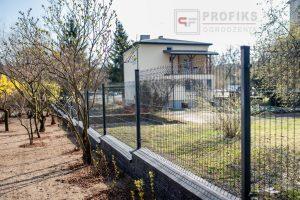 Panel Ogrodzeniowy 123 cm HR4 RAL7016 podmurówka systemowa Ogrodzenie Panelow Radom Panele przetłaczane ogrodzeniowe 3D ogrodzenia systemowe producent łącznik Lipsko