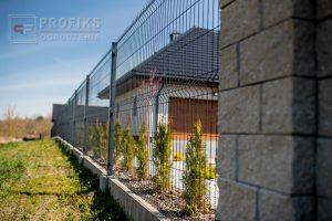 Panel Ogrodzeniowy 153 cm HR4 RAL7016 grafit antracyt podmurówka systemowa Ogrodzenie Panelowe Radom Panele przetłaczane ogrodzeniowe 3D ogrodzenia systemowe producent łącznik Opoczno Starachowice