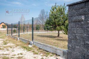 Panel Ogrodzeniowy 123 cm HR4 RAL7016 antracyt grafit podmurówka systemowa Ogrodzenie Panelowe Radom Panele przetłaczane ogrodzeniowe 3D ogrodzenia systemowe producent Zwoleń Warka