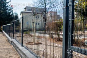 Panel Ogrodzeniowy 123 cm HR4 RAL7016 grafit antracyt podmurówka systemowa Ogrodzenie Panelowe Radom Panele przetłaczane ogrodzeniowe 3D ogrodzenia systemowe producent podmurówka murowana pustak łupany Grójec Pionki