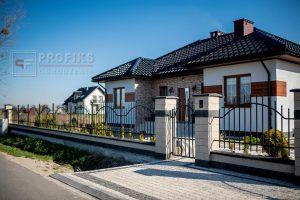Ogrodzenie murowane łupane pustak łupany grafit biały ogrodzenia nowoczesne Radom producent stal na wymiar spawanie Opoczno Jedlińsk Grójec