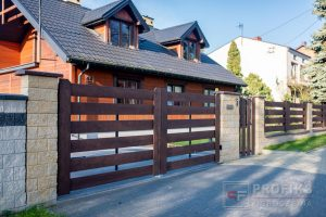 Ogrodzenie murowane łupane pustak łupany żółty ogrodzenia nowoczesne Radom producent stal spawana na wymiar Grójec Jedlińsk Zwoleń spawalnia