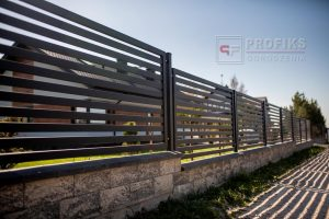 Ogrodzenie murowane pustak łupany multikolor ogrodzenia metalowe spawane na wymiar nowoczesne poziome Radom Białobrzegi Zwoleń