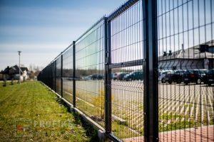 Panel Ogrodzeniowy 173 cm HR4 RAL9005 czarny podmurówka systemowa furtka Ogrodzenie Panelowe Radom Panele przetłaczane ogrodzeniowe 3D ogrodzenia systemowe producent Starachowice Pionki
