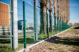 Panel Ogrodzeniowy 153 cm HR4 RAL6005 podmurówka systemowa Ogrodzenie Panelow Radom Panele przetłaczane ogrodzeniowe 3D ogrodzenia systemowe producent łącznik Warka