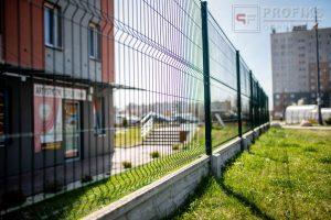 Panel Ogrodzeniowy 153 cm HR4 RAL6005 zielony podmurówka systemowa Ogrodzenie Panelowe Radom Panele przetłaczane ogrodzeniowe 3D ogrodzenia systemowe producent łącznik Zwoleń Kozienice
