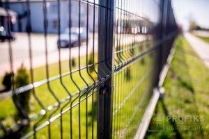 Panel Ogrodzeniowy 173 cm HR4 RAL7016 RAL9005 czarny grafit antracyt podmurówka systemowa Ogrodzenie Panelowe Radom Panele przetłaczane ogrodzeniowe 3D ogrodzenia systemowe producent łącznik Kazimierz