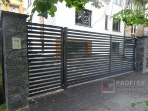 Ogrodzenie metalowe ogrodzenia stalowe spawane na wymiar Radom spawalnia producent profile poziome lakier proszkowy kolor Zwoleń