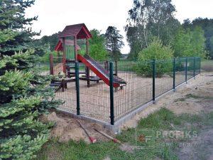 Panel Ogrodzeniowy 123 cm HR4 RAL6005 zielony podmurówka systemowa Ogrodzenie Panelowe Radom Panele przetłaczane ogrodzeniowe 3D ogrodzenia systemowe producent łącznik Puławy Opoczno