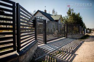 Ogrodzenie metalowe frontowe nowoczesne spawana na wymiar podmurówka murowana ogrodzenia front Radom montaż Zwoleń Kozienice