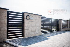 Ogrodzenie murowane łupane pustak łupany biały ogrodzenia metalowe nowoczesne poziom model Radom producent stal spawana na wymiar Starachowice Puławy spawalnia