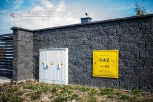 Ogrodzenie murowane łupane pustak łupany grafit ogrodzenia nowoczesne Radom producent stal na wymiar spawanie Skarżysko Kozienice