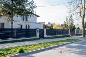 Ogrodzenie murowane łupane pustak łupany biały grafit ogrodzenia metalowe nowoczesne poziome żaluzja profile Radom producent stal spawana na wymiar Białobrzegi